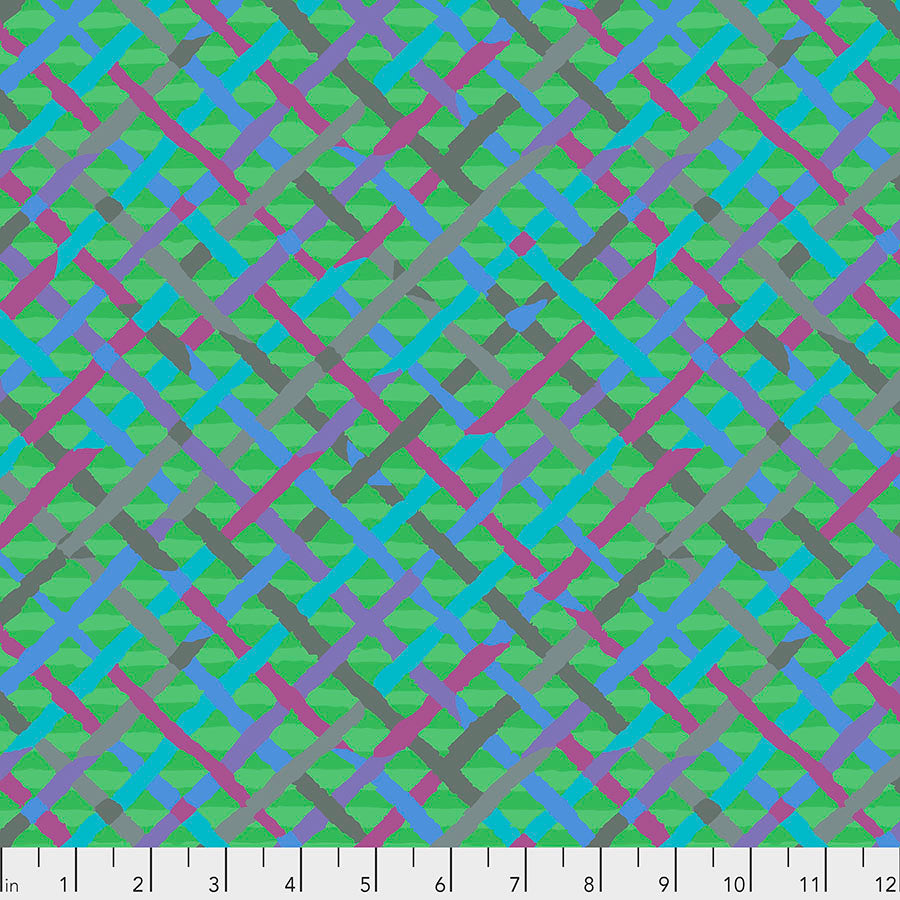 Kaffe Fassett Collective Mad Plaid Green PWBM037.Priced per 25cm