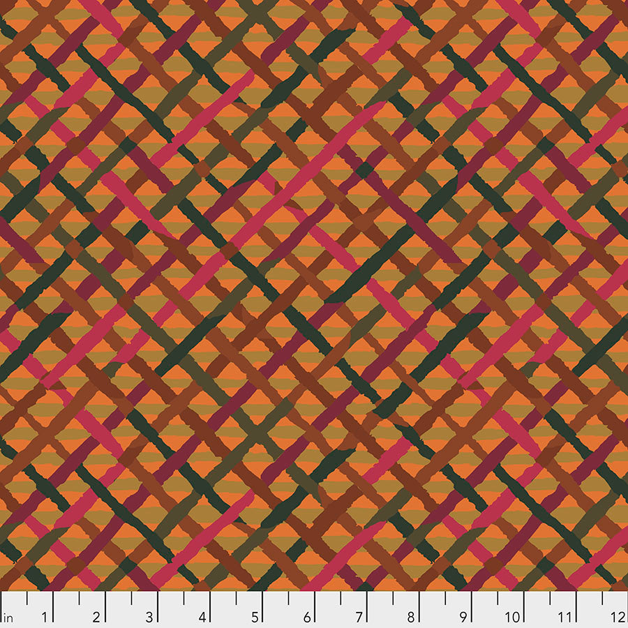 Kaffe Fassett Collective Mad Plaid Rust PWBM037.Priced per 25cm