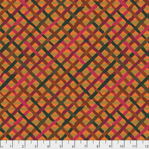 *Pre Order* Kaffe Fassett Collective Mad Plaid Rust PWBM037 - Feb 2020.Priced per 25cm