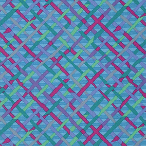Kaffe Fassett Collective Mad Plaid TURQUOISE PWBM037.Priced per 25cm