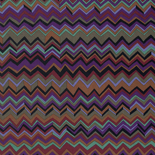 Kaffe Fassett Collective Zig Zag Black PWBM043.Priced per 25cm