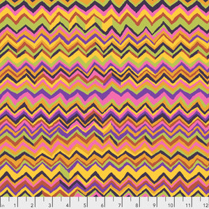 Kaffe Fassett Collective Zig Zag Gold PWBM043.Priced per 25cm