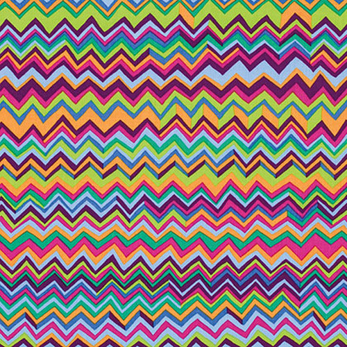 Kaffe Fassett Collective Zig Zag Multi PWBM043.Priced per 25cm