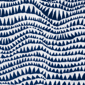 Kaffe Fassett Collective Sharks Teeth Blue PWBM060.Priced per 25cm