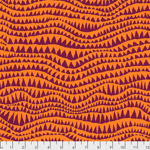 Kaffe Fassett Collective Sharks Teeth Orange PWBM060.Priced per 25cm