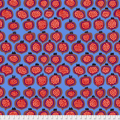 Kaffe Fassett Collective Pomegranate Blue PWBM067.Priced per 25cm