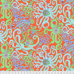 *PRE ORDER* Kaffe Fassett Collective Octopus - PWBM074.ORANGE - Aug 2020.Priced per 25cm