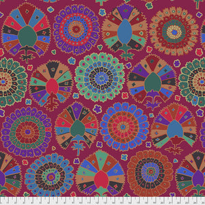 Kaffe Fassett Collective Turkish Delight WINE PWGP081.Priced per 25cm