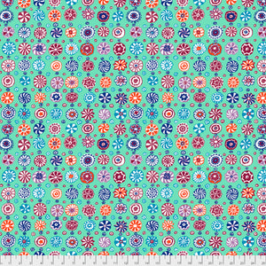Kaffe Fassett Collective Whirligig Celadon PWGP166.Priced per 25cm