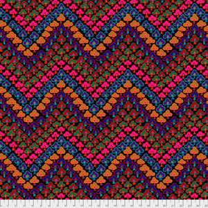 Kaffe Fassett Collective Trefoil Dark PWGP167.Priced per 25cm