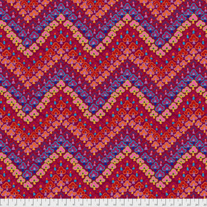 Kaffe Fassett Collective Trefoil Red PWGP167.Priced per 25cm