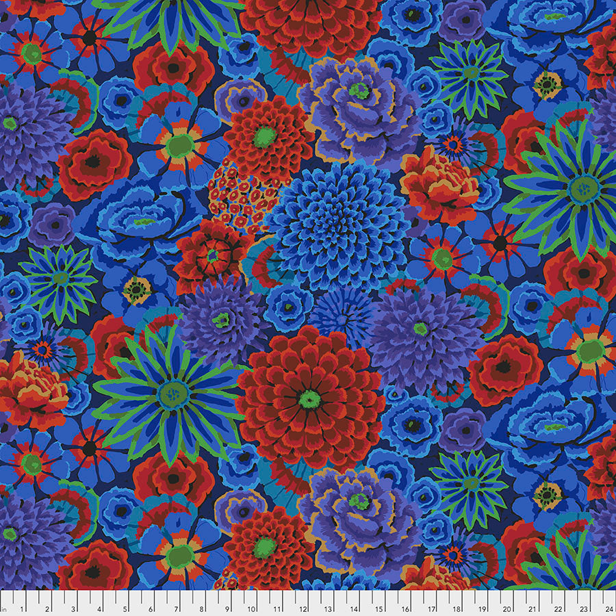 Kaffe Fassett Collective Enchanted Cobalt PWGP172 - Aug 2020.Priced per 25cm