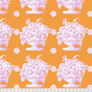 Kaffe Fassett Collective Stone Flower Orange PWGP173.Priced per 25cm