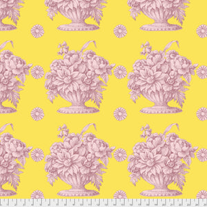 Kaffe Fassett Collective Stone Flower Yellow PWGP173.Priced per 25cm