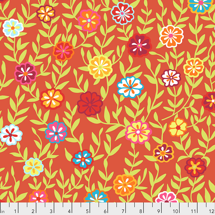 Kaffe Fassett Collective Busy Lizzy Red PWGP175 - Feb 2020.Priced per 25cm