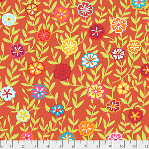 *Pre Order* Kaffe Fassett Collective Busy Lizzy Red PWGP175 - Feb 2020.Priced per 25cm