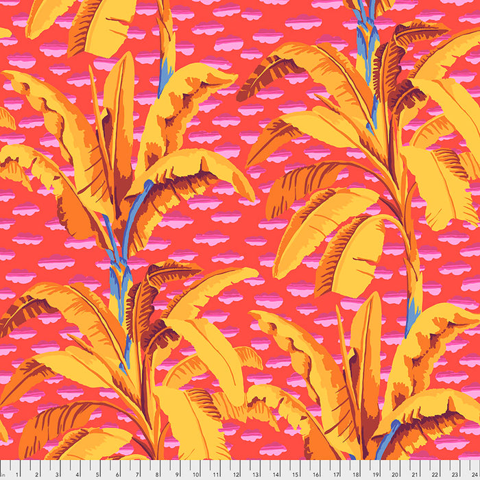 Kaffe Fassett Collective Banana Tree - Red PWGP179 Feb 2021.Priced per 25cm