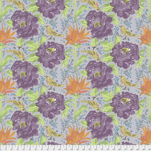 COLOR FUSION by Laura Heine Bird of Paradise - Grey PWLH016.GREY.Priced per 25cm