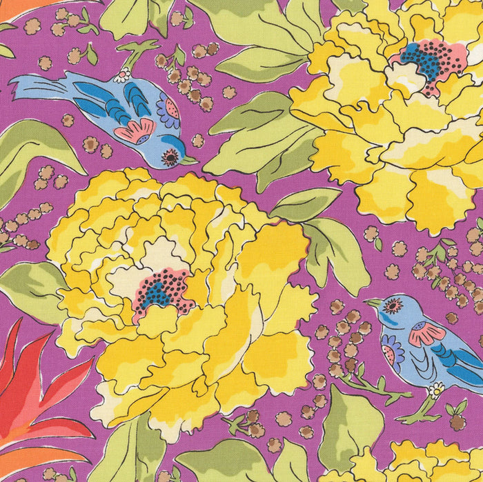 COLOR FUSION by Laura Heine Bird of Paradise - Violet PWLH016.VIOLET.Priced per 25cm