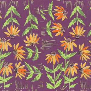 COLOR FUSION by Laura Heine Daisy - Plum PWLH018.PLUM.Priced per 25cm
