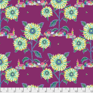 Souvenir by Nathalie Lete Conservatory Chapter 2 Sunny Village in Aubergine.Priced per 25cm.