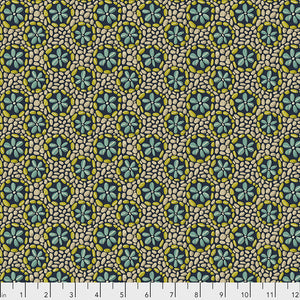 Land Art by Odile Bailloeul Stone Flowers - Navy PWOB024.NAVY.Priced per 25cm