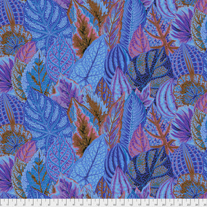 Kaffe Fassett Collective Coleus Blue PWPJ030 - Feb 2020.Priced per 25cm