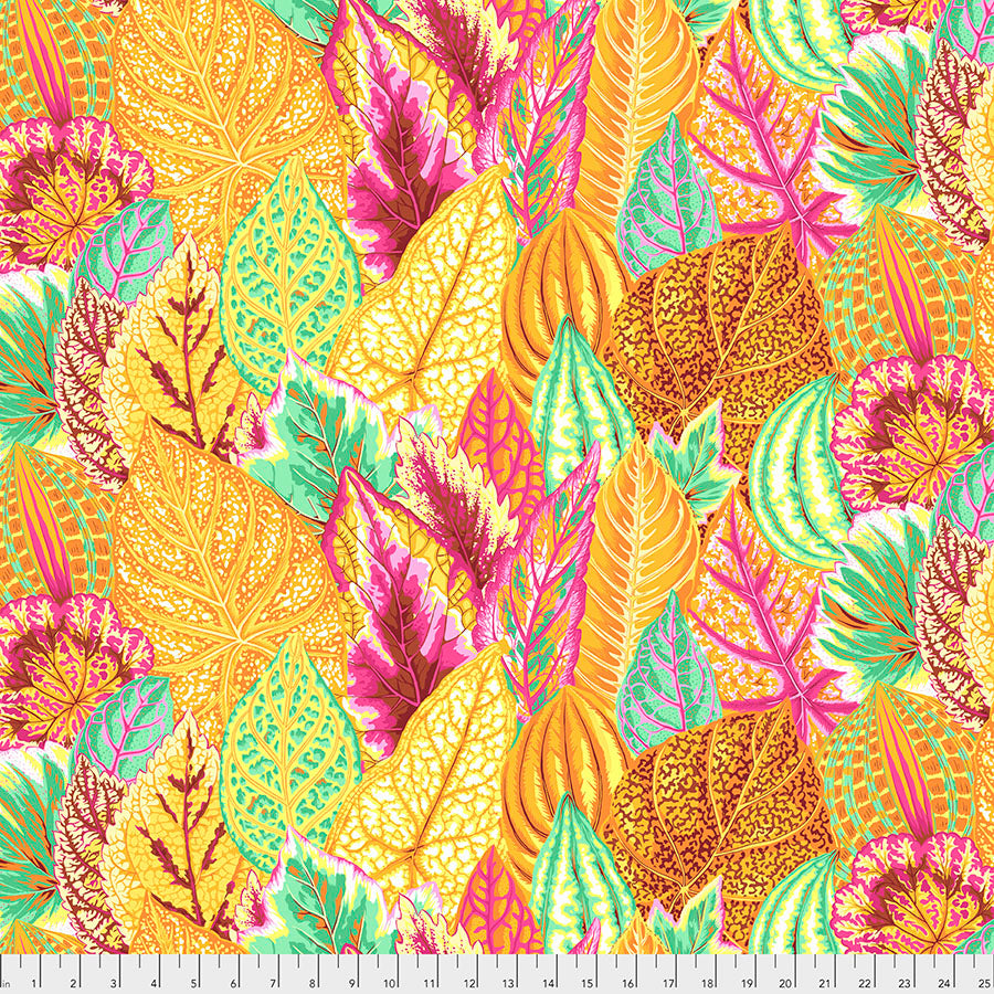*Pre Order* Kaffe Fassett Collective Coleus Yellow PWPJ030 - Feb 2020.Priced per 25cm