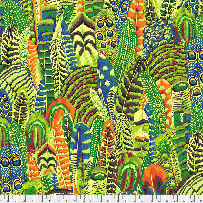 *Pre Order* Kaffe Fassett Collective Feathers - Lime PWPJ055 Feb 2021.Priced per 25cm Due Feb/March 2021
