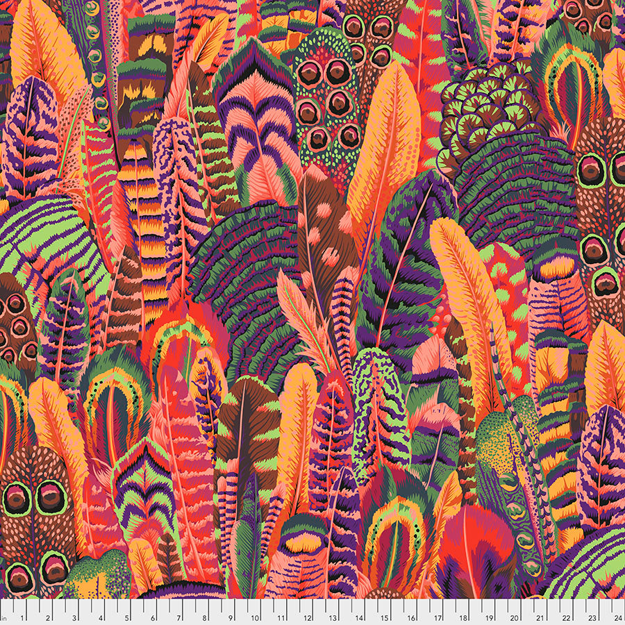 *Pre Order* Kaffe Fassett Collective Feathers - Summer PWPJ055 Feb 2021.Priced per 25cm Due Feb/March 2021