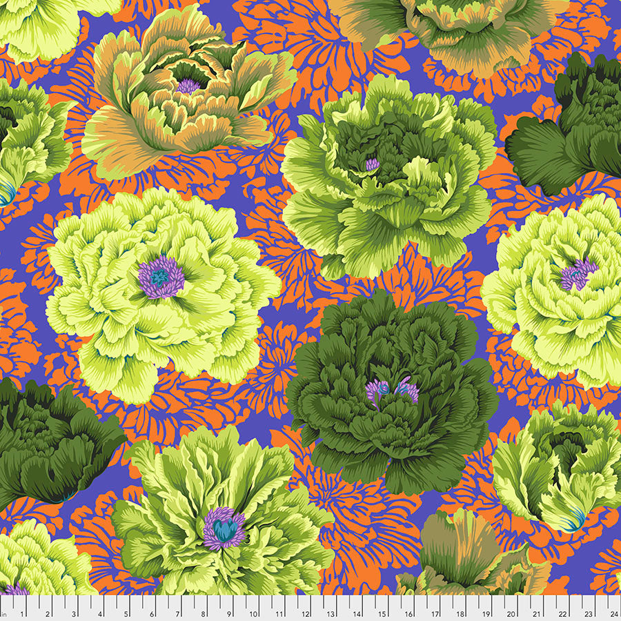 *Pre Order* Kaffe Fassett Collective Brocade Peony - Moss PWPJ062 Feb 2021.Priced per 25cm Due Feb/March 2021