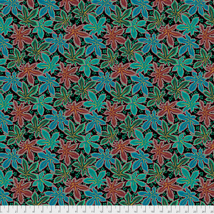 Kaffe Fassett Collective Lacy Leaf  Green PWPJ093.Priced per 25cm