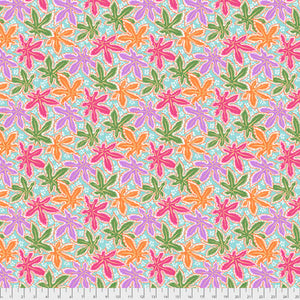 Kaffe Fassett Collective Lacy Leaf Pastel PWPJ093.Priced per 25cm