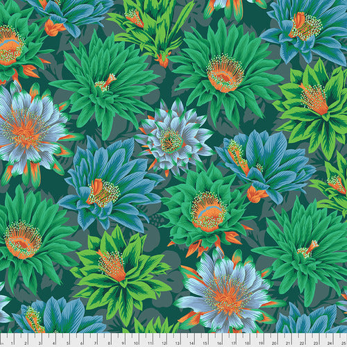 Kaffe Fassett Collective Cactus Flower Green PWPJ096.Priced per 25cm