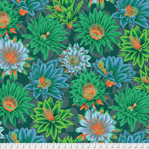 Kaffe Fassett Collective Cactus Flower Green PWPJ096 - Spring 2019.Priced per 25cm