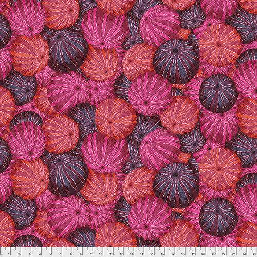 Kaffe Fassett Collective Sea Urchins Red PWPJ100.Priced per 25cm