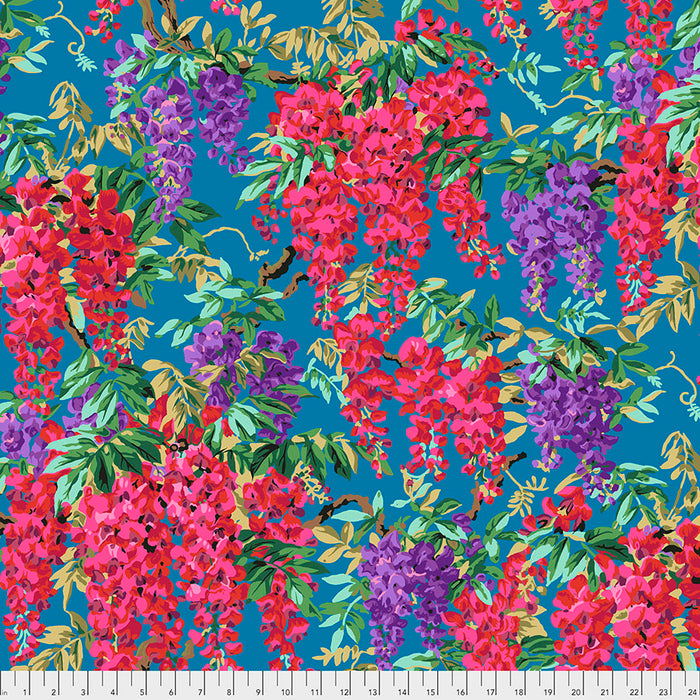 Kaffe Fassett Collective Wisteria Teal PWPJ102 - Aug 2020.Priced per 25cm