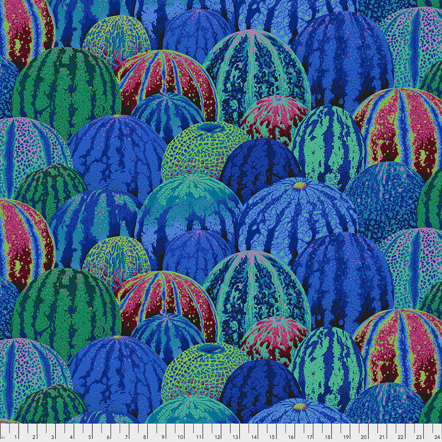 Kaffe Fassett Collective Watermelons Blue PWPJ103 - Aug 2020.Priced per 25cm