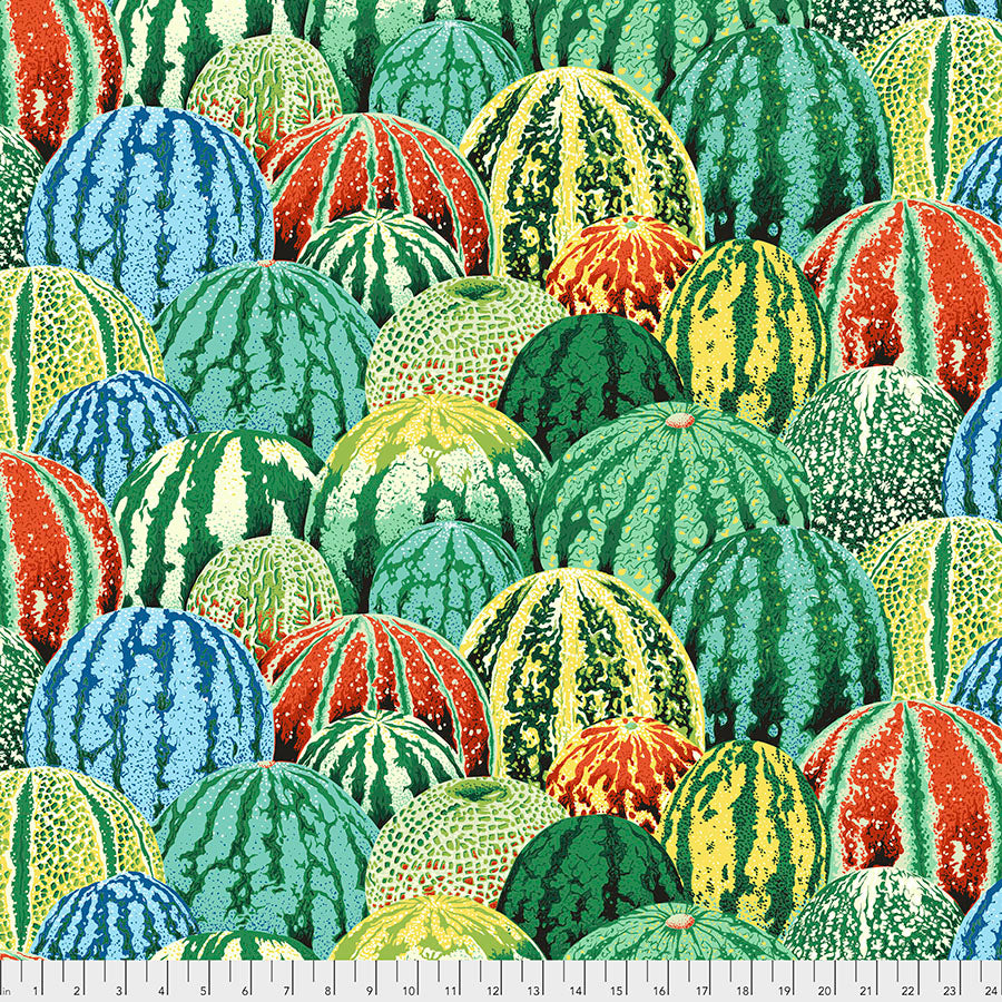 Kaffe Fassett Collective Watermelons Green PWPJ103 - Aug 2020.Priced per 25cm