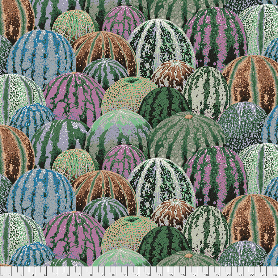 Kaffe Fassett Collective Watermelons Grey PWPJ103 - Aug 2020.Priced per 25cm