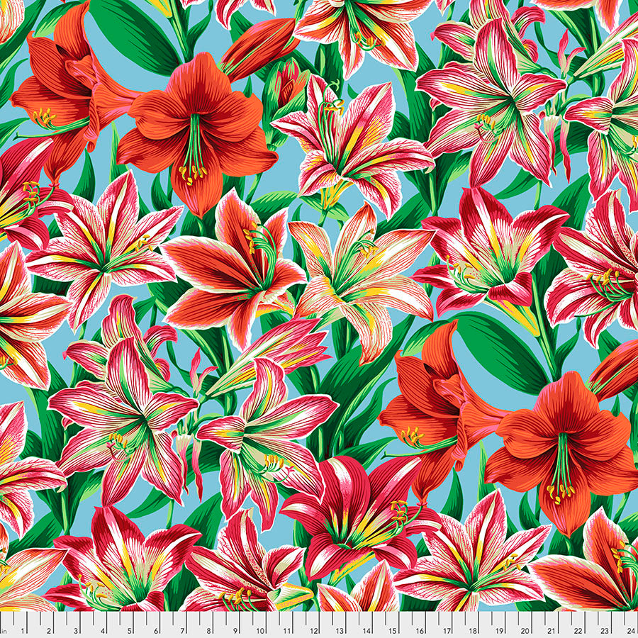 Kaffe Fassett Collective Amaryllis Natural PWPJ104 - Aug 2020.Priced per 25cm