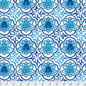 SILK ROAD by Philip Jacobs - Lhasa in Blue PWSL085.Priced per 25cm