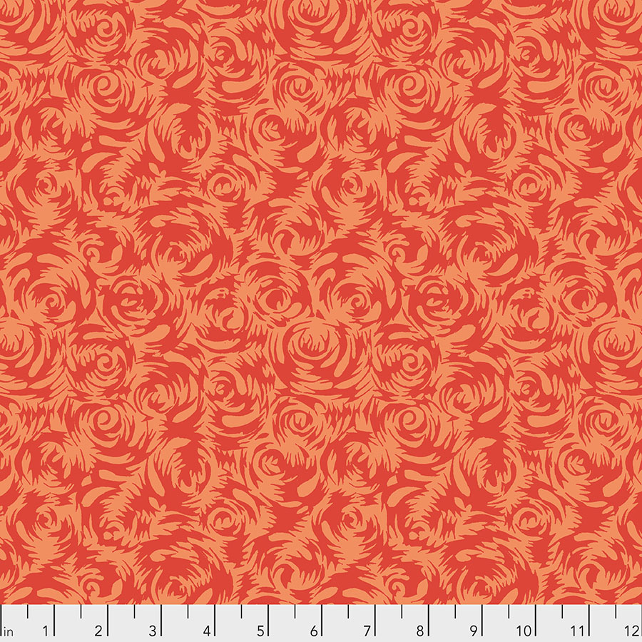 SILK ROAD - Persian Rose in Orange PWSL090.Priced per 25cm