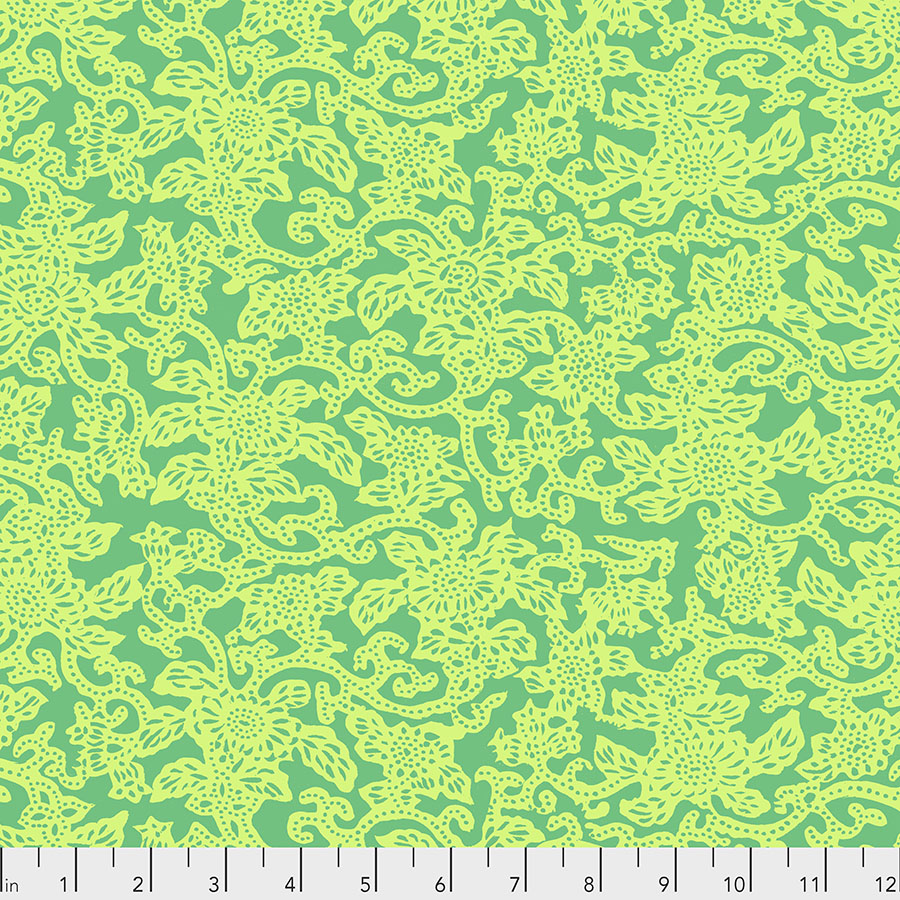 SILK ROAD - Kashgar in Green PWSL091.Priced per 25cm