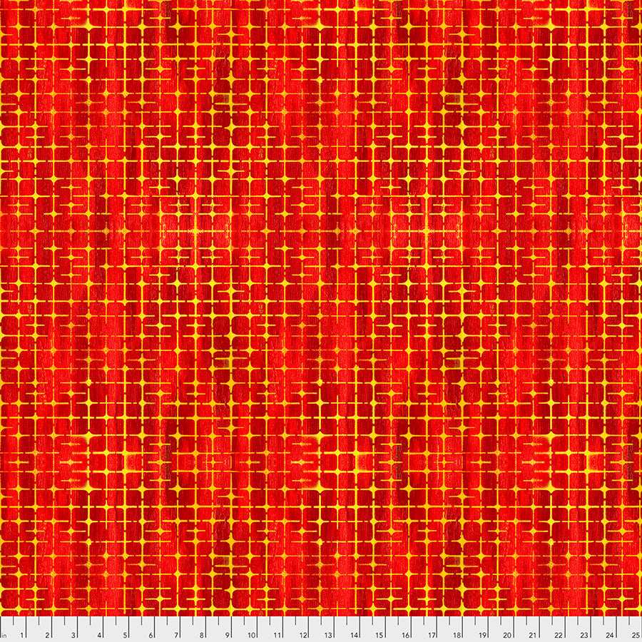 GARDEN BRIGHTER by Sue Penn Digital WEAVE PWSP008.APPLE.Priced per 25cm