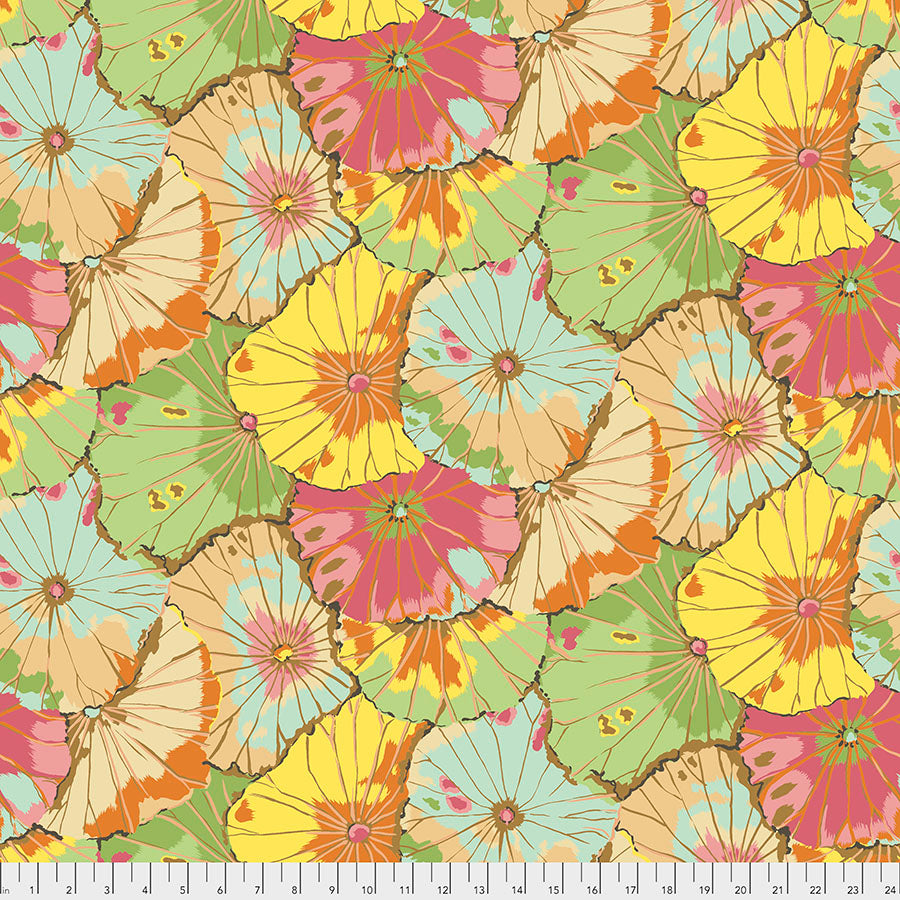 *Pre Order* Kaffe Fassett Collective  Lotus Leaf Wide Back - Jade QBGP007 Feb 2021.Priced per 25cm Due March/April 2021