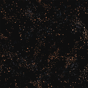 Ruby Star Society Speckled Metallic Black RS5027 61M.Priced per 25cm.