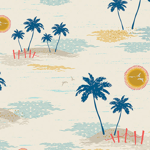 Art Gallery - Sunkissed - Palm Island Escape SKS-94307.Priced per 25cm