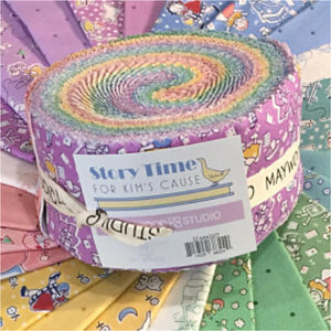 Maywood Studio  STORY TIME for Kim's Cause  40 - 2.5 Inch Strips STMASSTT