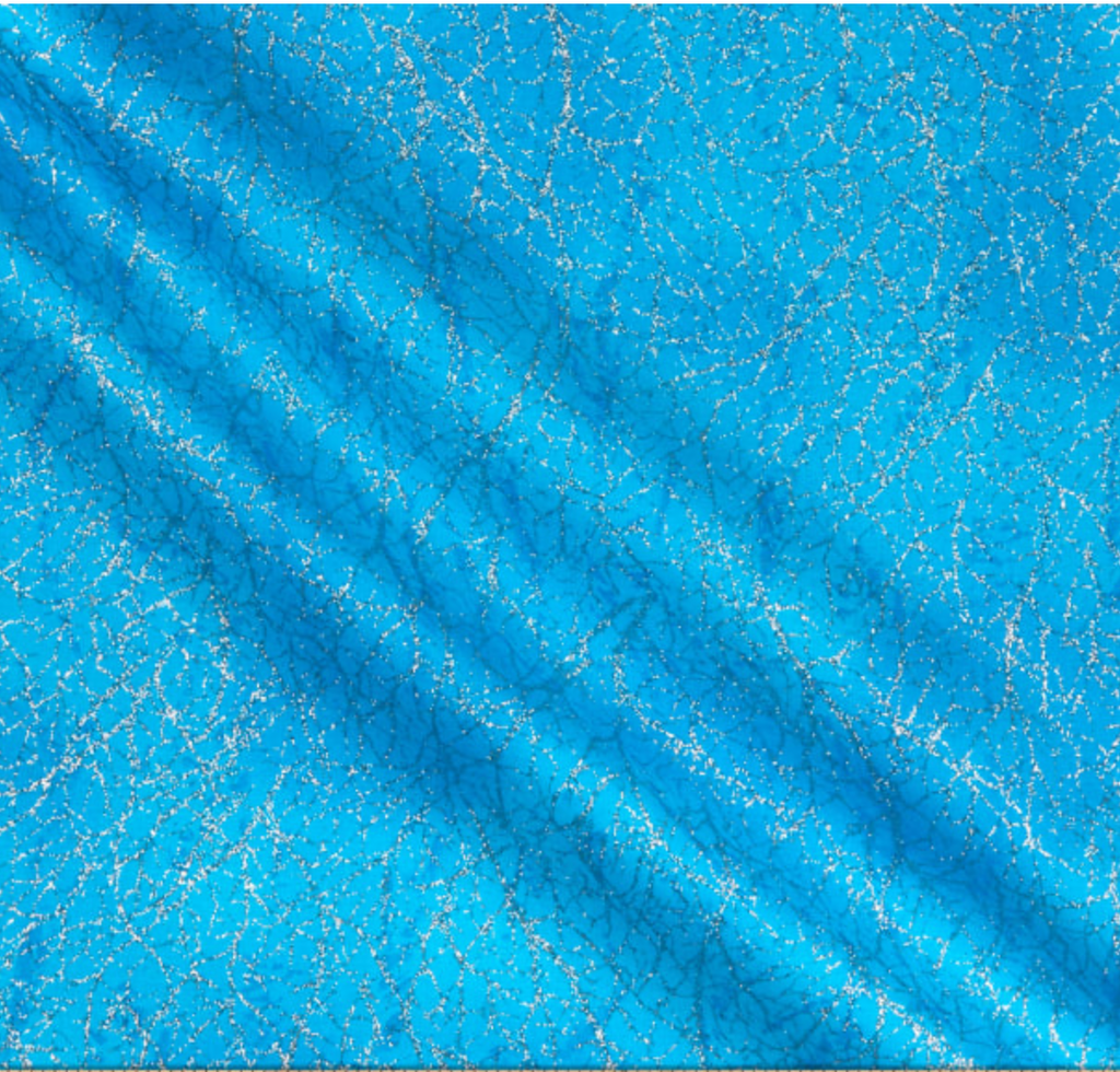 Windham Diamond Dust Metallic Texture CYAN BLUE 51394-24 Priced per 25cm.